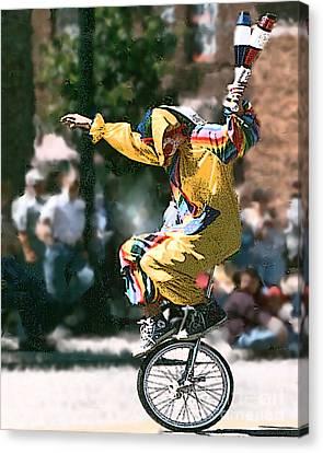 Just Clownin' Canvas Print by Rick Riley