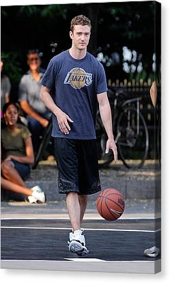 Basketball Collection Canvas Print - Justin Timberlake, Films A Scene by Everett