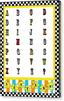 Juvenile Alphabet Licensing Art Canvas Print by Anahi DeCanio
