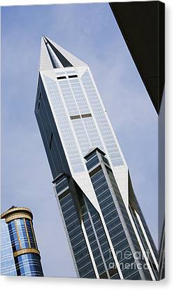 Jw Marriott Tower In Downtown Shanghai Canvas Print by Jeremy Woodhouse