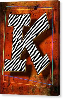 K Canvas Print by Mauro Celotti