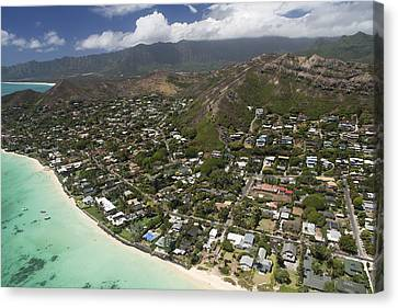 Kailua Aerial Canvas Print by Peter French