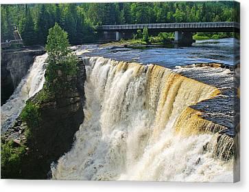 Kakabeka Falls Canvas Print by Bill Morgenstern