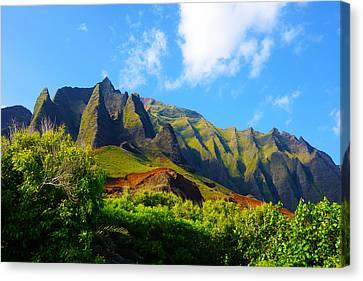 Kalalau Mountains Morning Kauai Canvas Print by Kevin Smith