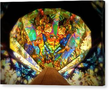Canvas Print featuring the photograph Kaleidoscope Colors And Designs by Cindy Wright