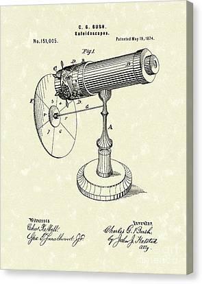 Kaleidoscopes 1874 Patent Art Canvas Print