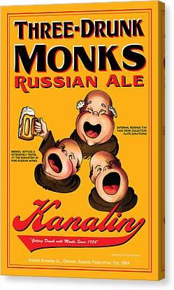 Kanalin Three Drunk Monks Canvas Print by John OBrien