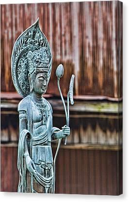 Kannon Bodhisattva Canvas Print by Karen Walzer