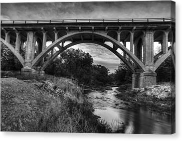 Kansas Archway Bridge Canvas Print by Thomas Zimmerman