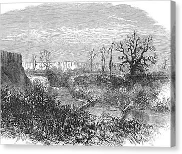 Kansas: Beaver Dam, 1867 Canvas Print by Granger