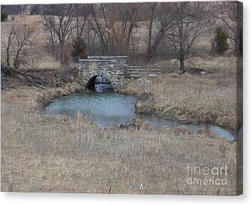 Canvas Print featuring the photograph Kansas Bridge by Mark McReynolds