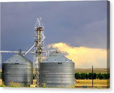 Kansas Farm Canvas Print by Jeanette C Landstrom