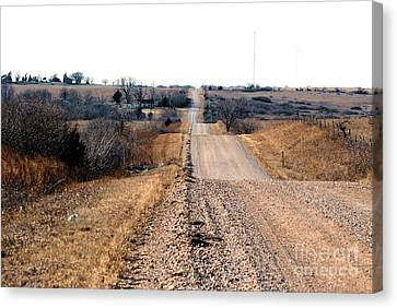 Kansas Gravel Road Canvas Print