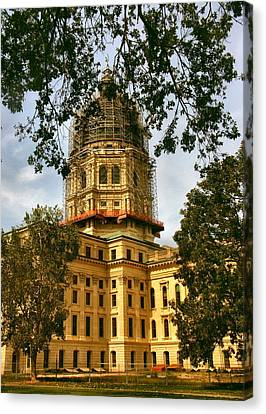 Kansas State Capitol Building Canvas Print by Lynne and Don Wright