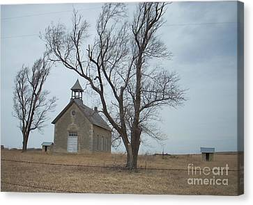Canvas Print featuring the photograph Kansas Stone Church by Mark McReynolds