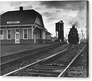 Kansas Train Station Canvas Print by Myron Wood and Photo Researchers