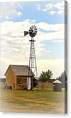 Kansas Windmill 1 Canvas Print by Marty Koch