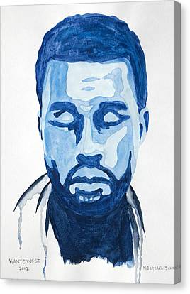 Kanye West Canvas Print by Michael Ringwalt
