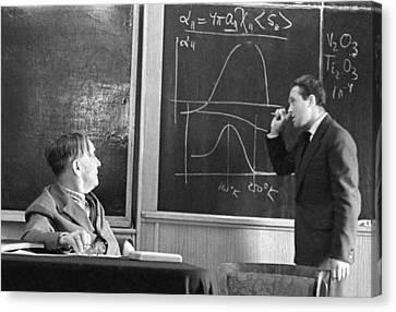 Kapitsa And Androv, Russian Physicists Canvas Print