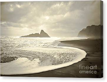 Karekare Beach In New Zealand Canvas Print
