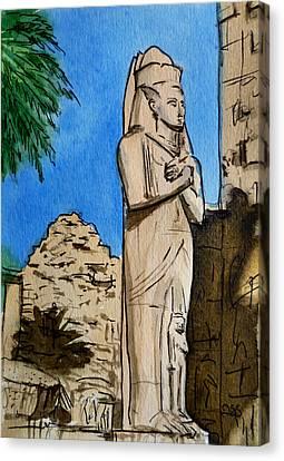 Karnak Temple Egypt Canvas Print by Irina Sztukowski