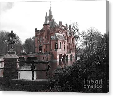 Canvas Print featuring the photograph Kasteel Ten Berghe by Blake Yeager