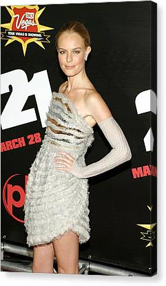 Kate Bosworth  Wearing A Chanel Couture Canvas Print