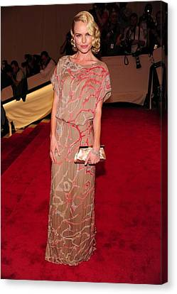 Kate Bosworth Wearing A Gown Canvas Print by Everett