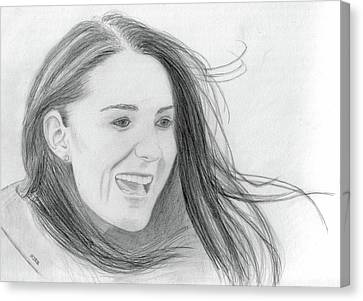 Kate Middleton - Duchess Of Cambridge Canvas Print by Pat Moore