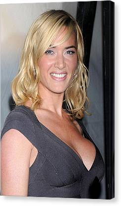Kate Winslet At Arrivals For New York Canvas Print by Everett