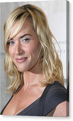 Kate Winslet At Arrivals For The Reader Canvas Print by Everett