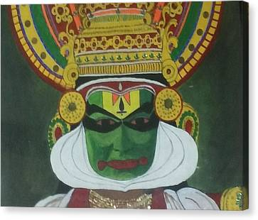 Kathakali Canvas Print by Shashi Kumar