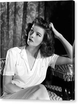Katharine Hepburn, 1940s Mgm Portrait Canvas Print by Everett