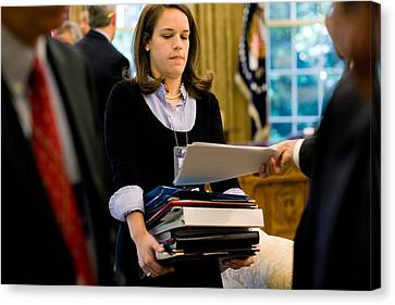 Katie Johnson President Obamas Personal Canvas Print by Everett