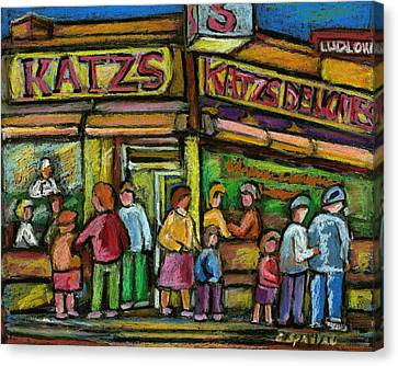 Katz's Houston Street Deli Canvas Print by Carole Spandau