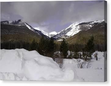 Kawuneeche Valley - Rocky Mountain National Park Canvas Print by Ellen Heaverlo