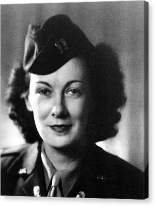 Kay Summersby Morgan Served As General Canvas Print by Everett