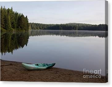 Kayak On Pog Lake Canvas Print by Chris Hill