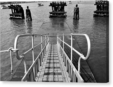 Kayak Ramp Canvas Print by Sarah McKoy