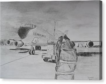 Kc-135 Study Canvas Print by Brian Hustead