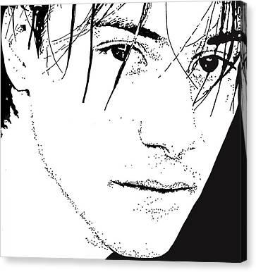 Keanu Canvas Print - Keanu Reeves 2 by Lori Jackson