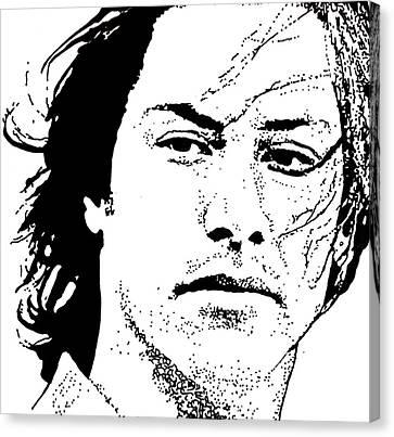Keanu Canvas Print - Keanu Reeves by Lori Jackson