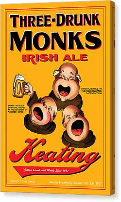 Keating Three Drunk Monks Canvas Print by John OBrien