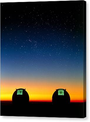 Keck Telescope Canvas Print - Keck I And II Telescopes On Mauna Kea, Hawaii by David Nunuk