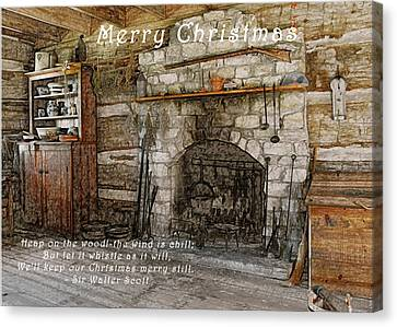 Keep Christmas Merry Canvas Print by Michael Peychich