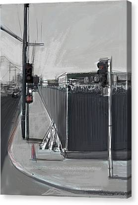 Barbed Wire Fences Canvas Print - Keep Out by Russell Pierce