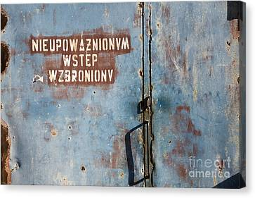 Keep Out Warning Sign Canvas Print