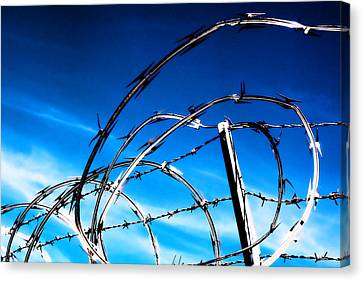 Keep Out Canvas Print by Wendy White