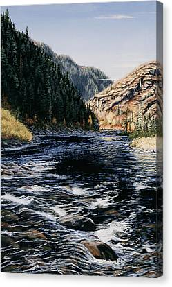 Canvas Print featuring the painting Kelly Creek by Kurt Jacobson