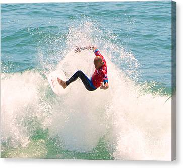 Kelly Slater Us Open Of Surfing 2012     6 Canvas Print by Jason Waugh
